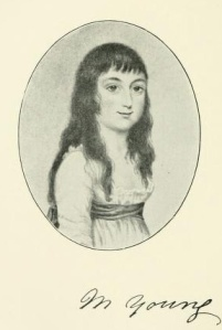 Martha Young, nicknamed 'Bobbin', who died in 1797, aged 14