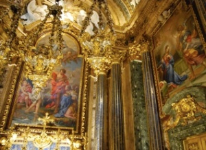 The glittering chapel of St John the Baptist in the Jesuit church of São Roque