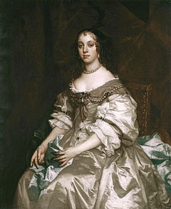 Queen Catherine, normalised to a heavy-lidded Stuart court female by Sir Peter Lely. (c)The Royal Collection