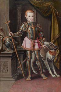 The young Sebastian, already looking martial, alas. (By Alonso Sanchez Coello (c.1531-1588))