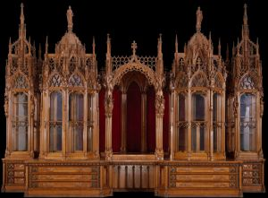 The 'cathedral in wood'. Courtesy of the Victoria and Albert Museum.