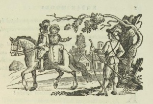 One of John Bewick's engravings for 'Robin Hodd'