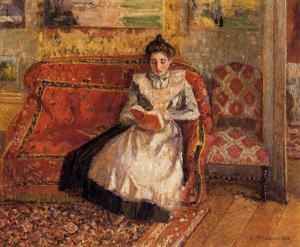 Jeanne reading, by Camille Pissaro
