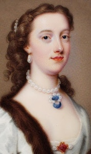 The duchess of Portland, by C.F. Zincke, 1738