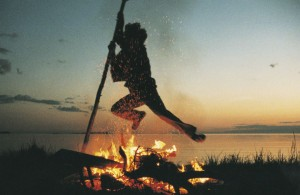 Leaping over the bonfire guarantees prosperity in the next 12 months.