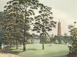 The Kew pagoda, constructed in 1762.
