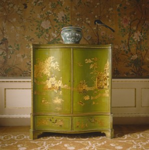 Chinoiserie furniture and Chinese wallpaper  at Nostell Priory. ©NTPL/Andreas von Einsiedel