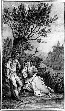 'The Lover's Complaint', illustrated in John Bell's 1774 edition of Shakespeare