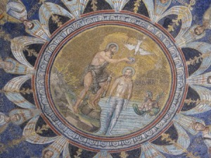 The ceiling of the Neonian baptistery, Ravenna.