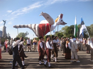 The duck, symbol of the island of Saaremaa, in the 2014 Song Festival procession.