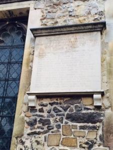 The memorial plaque to Anna Maria Vassa, aged four