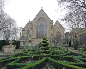 The church from the garden.