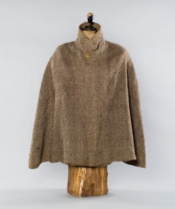 The tweed cloak of William Robinson, the hugely influential gardener. Credit: the Garden Museum.
