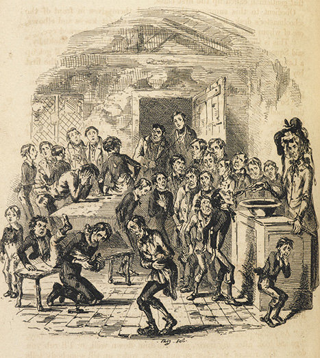 Nicholas Nickleby is introduced to Dotheboys Hall: the novel, published in 1838–9, did much to expose the ill treatment of boys in the so-called 'Yorkshire Schools'.