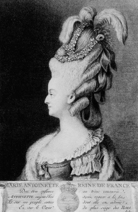 Queen Marie Antoinette, frontispiece image from Volume 2 of Thomas Carlyle's 'History of the French Revolution'.