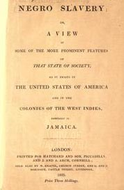 The 1823 pamphlet 'Negro Slavery', for which Cooper supplied eye-witness evidence.
