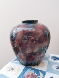 The 'art pot' from my grandmother's darwing-room mantelpiece. (Family legend has it that there was once a 'Chinese' lid.)