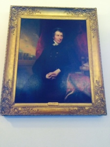 Portrait of John Shore, Baron Teignmouth, on display in Cambridge University Library.