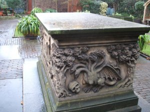 The Tradescant tomb.