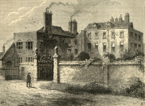 The Tradescants' house in Lambeth, in the eighteenth century.