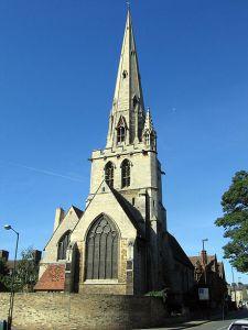All Saints' church, from Jesus Lane.