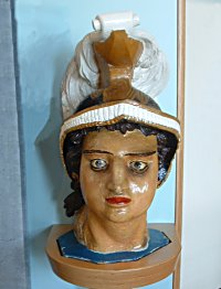 Part of the Bellerophon's figurehead. Credit: Royal Naval Museum, Portsmouth.