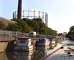 The old Cambridge gasworks, between Newmarket Road and the river.