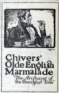Advertisement for Chivers Marmalade, 1922.