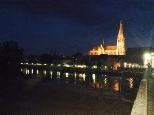The city at night.