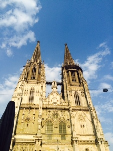 The view of the cathedral from a conveniently placed restaurant.