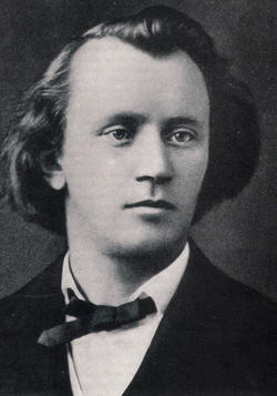 The young Brahms.