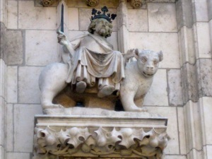 King Cyrus of Persia, riding a beast.