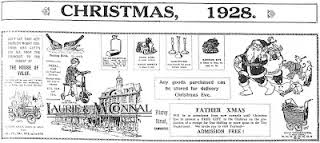 Laurie and McConnal's Christmas flyer, 1928.