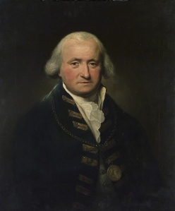 L.F. Abbott's 1795 portrait of Thomas Pasley, wearing the gold medal he earned for his part in the battle. Credit: National Maritime Museum, London.
