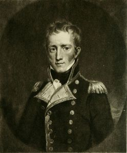 Captain Maitland, from the frontispiece of Maitland's 1826 account of Napoleon's surrender.
