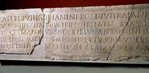'Foundation stone' of the Roman garrison.
