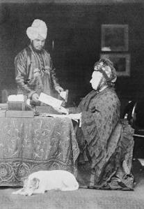 Queen Victoria with Abdul Karim, her Indian Secretary.