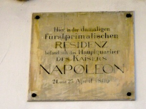 The commemorative plaque.