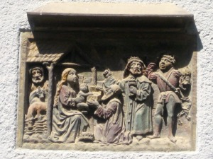 The Three Kings, from a house wall.