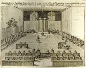 The Reichstag in session in the Rathus.