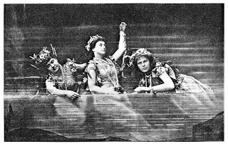 The Rhinemaidens, swimming along onstage...