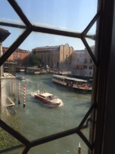 The Accademia from the glassed-in veranda of Palazzo Falier.