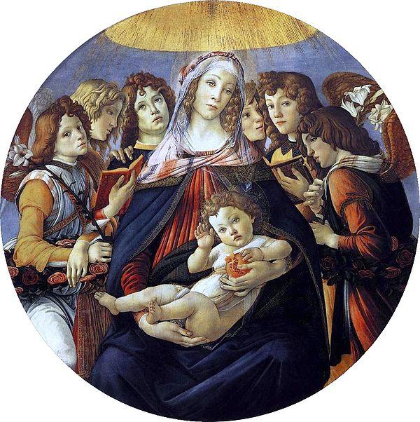 Botticelli, the 'Madonna of the Pomegranates'. (Credit: Uffizi Museum, Florence.)