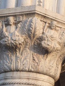 A chapiter from the Doge's Palace, Venice: kings, but no pomegranates, alas!