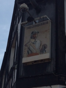 Coincidentally, I found this pub sign in Shoreditch yesterday.