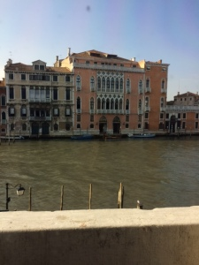 View across the Grand Canal from Palazzo Garzoni.