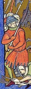 Medieval gambeson, from the Pierpont Morgan Bible.