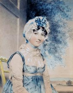 Maria Edgeworth, by John Downman (1807).