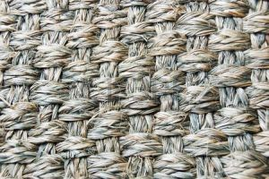 Abacá matting: endless varieties of weaves and colours are available.