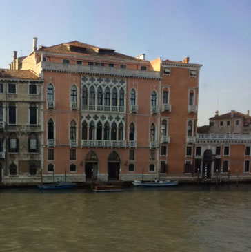 Palazzo Pisano Moretta, viewed from the other side of the Grand Canal.